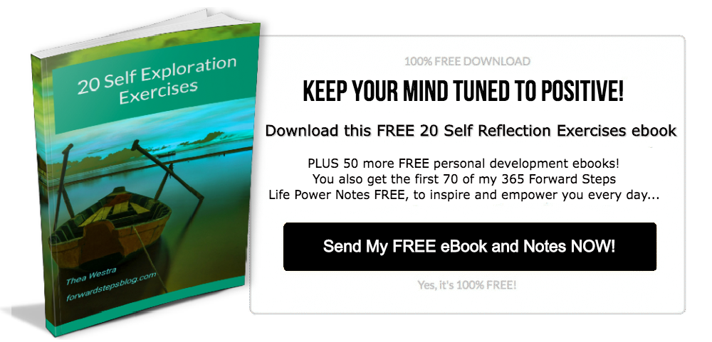 Forward Steps 20 Self Reflection Exercises free ebook exit opt-in image