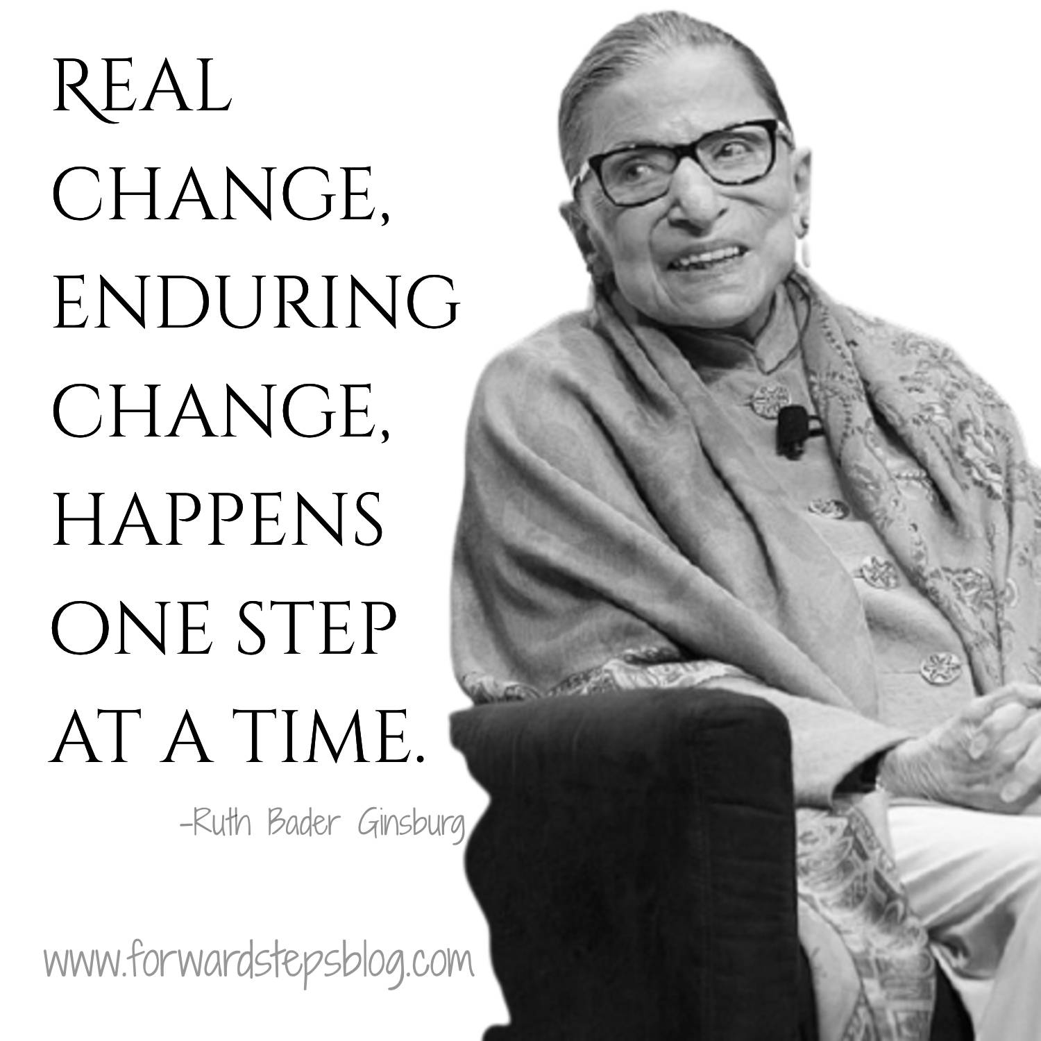27 Ruth Bader Ginsburg Quotes - Forward Steps image 1500px