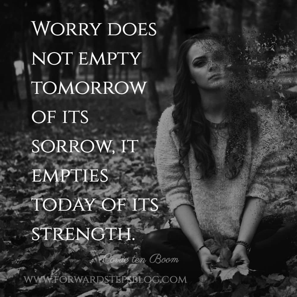 Anxiety And Worry - Forward Steps blog image