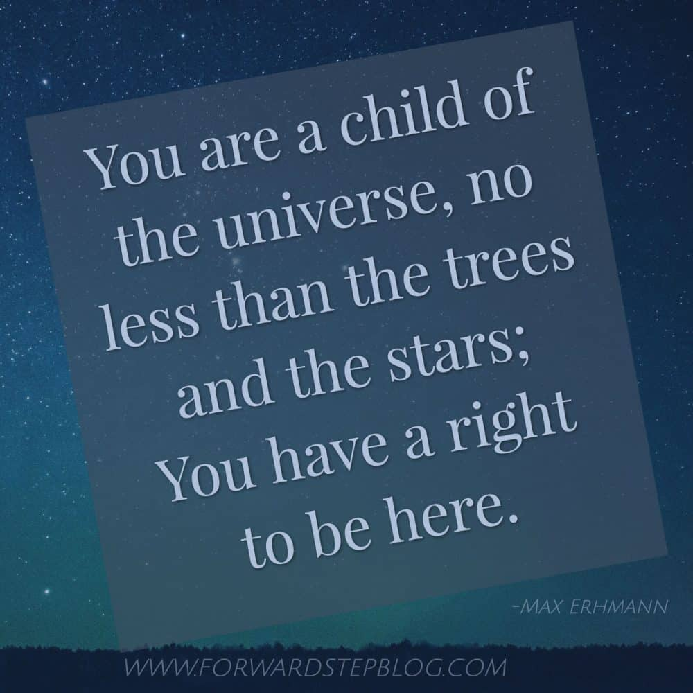 Child Of The Universe Max Ehrmann Desiderata poem image