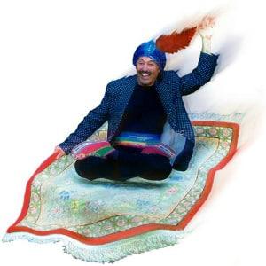 FUNdamentalist HUMANifesto - Fying Swami Beyondananda 300px Image