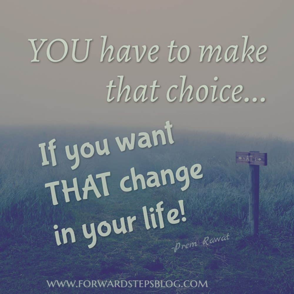 Life is really very simple - make choice