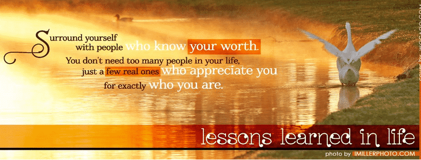 Personal development Facebook pages - Lessons Learned In Life Inc.