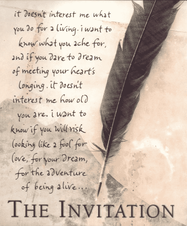 The Invitation and Desiderata Poems For You