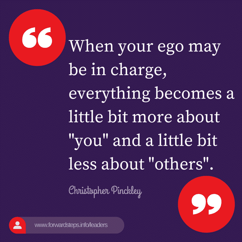 World Class Leader - Ego In Charge Quote Image