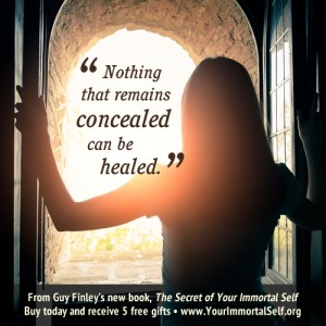 The Secret of Your Immortal Self - Nothing that remains concealed can be healed quote image