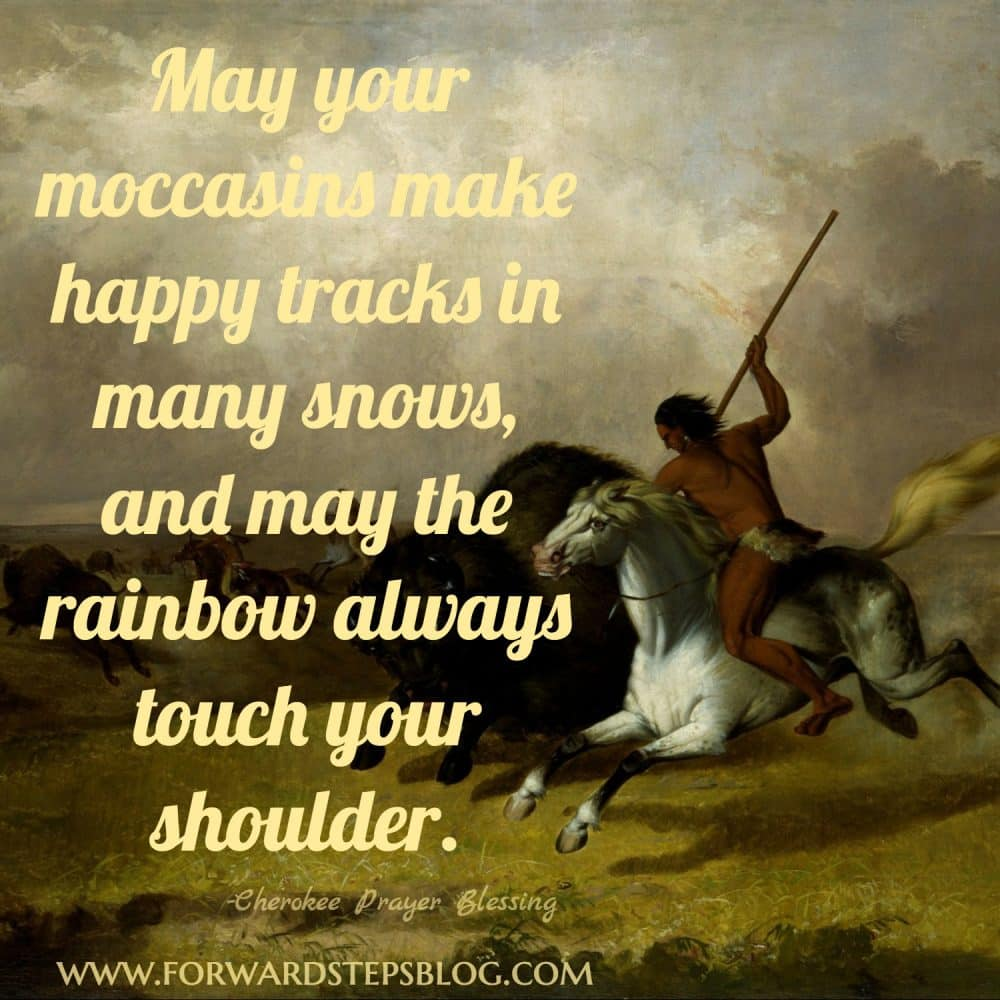 may the rainbow always touch your shoulder quote 1