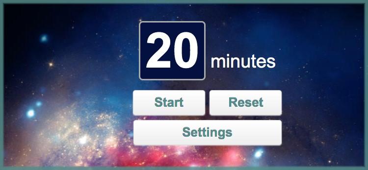 meditation timer - forward steps image