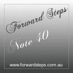 365 Forward Steps Self Improvement Notes Number 40