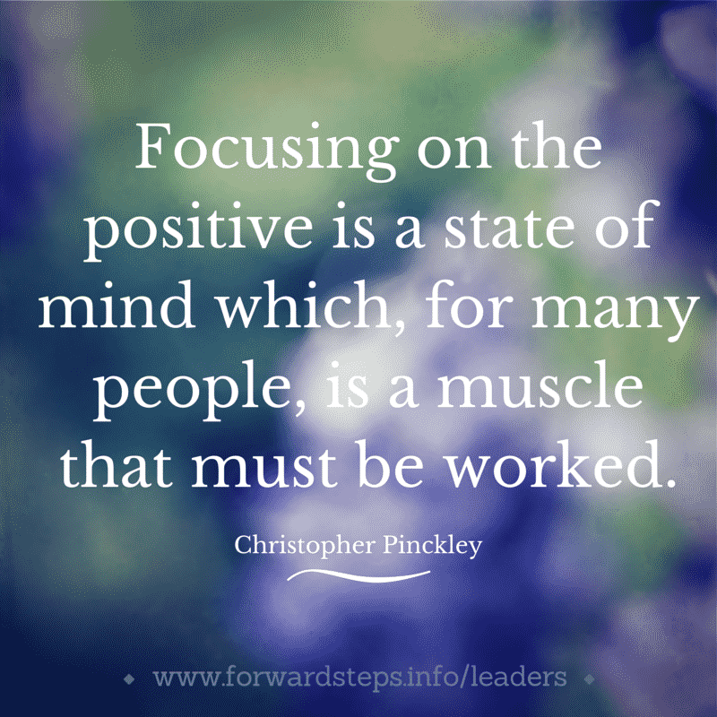 World Class Leader - Positive Focus State Of Mind Quote Image