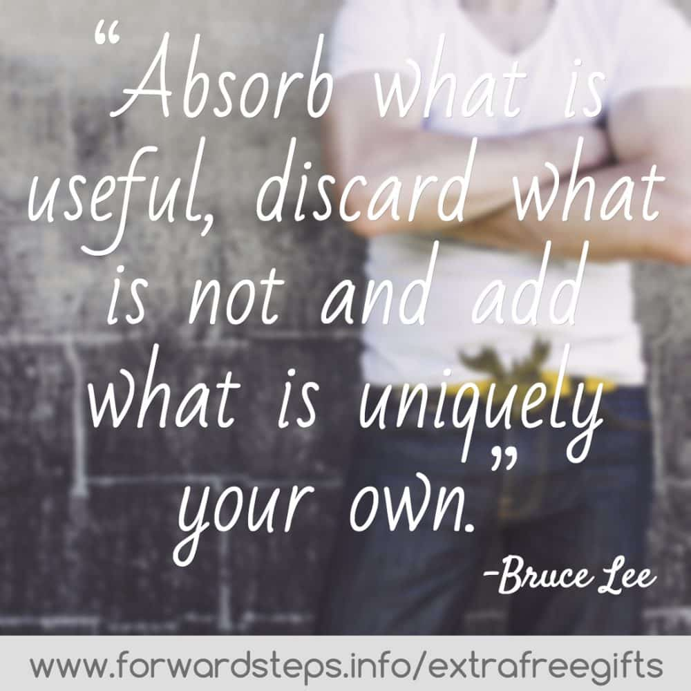 Uniquely your own Bruce Lee quote image