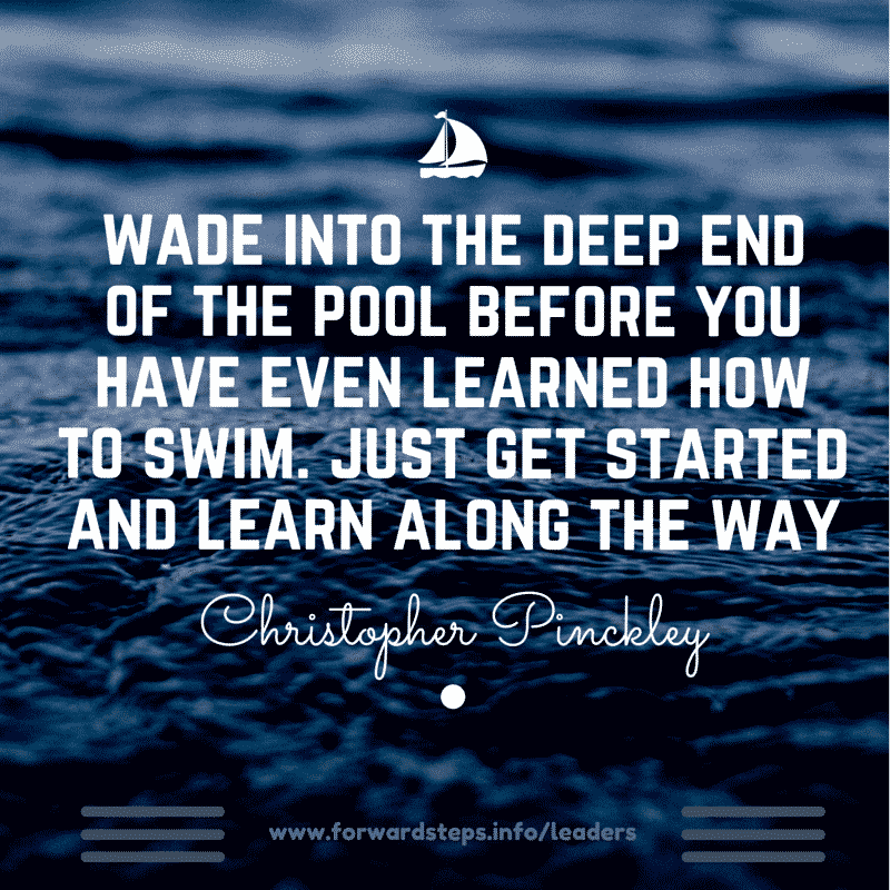 World Class Leader - Wade Into The Deep End Quote Image